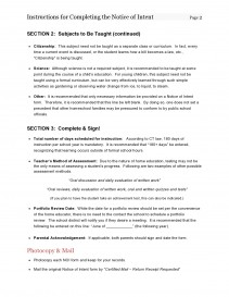 Instructions for Completing Notice of Intent - Page 2